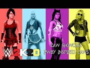 WWE 2K20 CAW SHOWCASE| RWBY INSPIRED CAWS