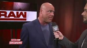WWE Raw - WWE Raw Exclusive: Kurt Angle addresses the Steel Cage Match controversy
