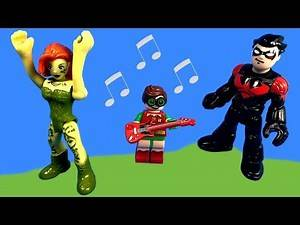Imaginext Poison Ivy and the Day of Disaster at Home with Nightwing and Vincent Toy Video