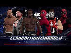 WWE 2K17 Spiderman VS R-Truth,Undertaker,Deadpool,Stardust,Goldberg Requested Elimination Chamber