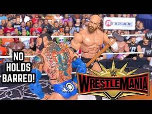 TRIPLE H VS BATISTA NO HOLDS BARRED WWE WRESTLEMANIA 35 ACTION FIGURE MATCH!
