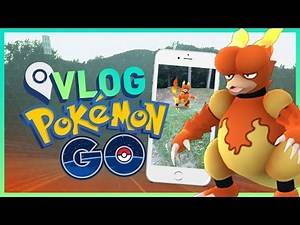Pokemon Go Gameplay - HUNTING FOR MAGMAR & BATTLING A GYM!