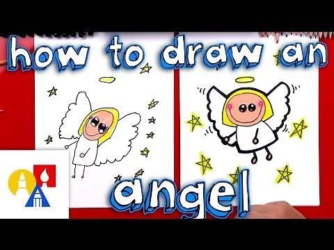 How To Draw A Cartoon Angel