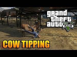GTA V - Things To Do - Cow Tipping