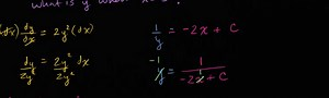 Worked example: separable equations | Differential equations
