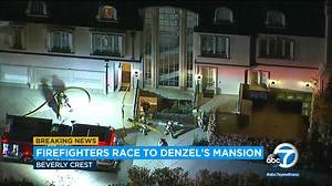 Firefighters respond to smoke report at Denzel Washington s LA home