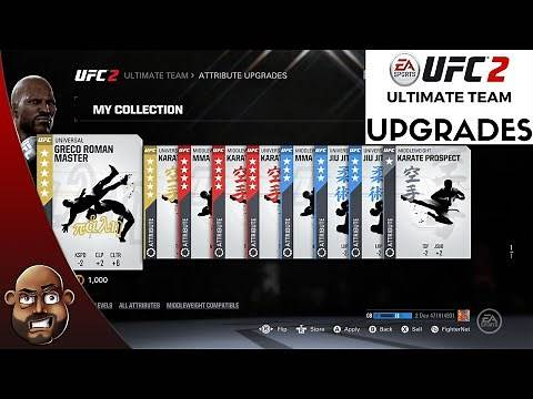 EA SPORTS UFC 2 ULTIMATE TEAM TIPS - How To Upgrade & Boost Your Fighter Stats | Middleweight Class
