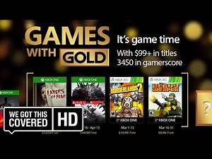 Xbox March 2017 Games With Gold [HD] Borderlands 2, Evolve