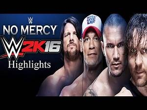 {WWE 2K16} No Mercy 2016 Full Show Epic Highlights