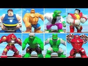 ALL LEGO BIG FIGURES Characters in LEGO Marvel Super Heroes