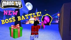 MAD CITY ROBLOX! NEW BOSS BATTLE LOCATION🦌! GIFTS🎁! WINTER MAP❄️!