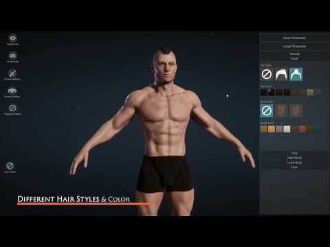 [UE4] Character Creator - Create custom character in Unreal Engine 4