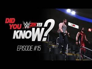 WWE 2K19 Did You Know? Empty Arena Match, Assign Sit-Up, Coup De Grace Outta Nowehere (Episode 15)