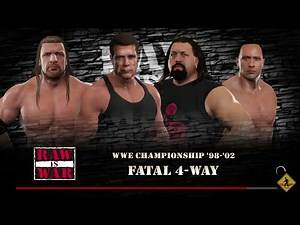 WWE 2K17 Arnold VS Triple H VS Big Show VS The Rock Fatal 4-Way Match WWE Title '98