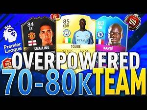 THE BEST CHEAP OVERPOWERED 70K TO 80K BPL FUT CHAMPIONS SQUAD BUILDER! FIFA 17 ULTIMATE TEAM