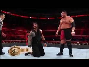 Roman Reigns vs Samoa Joe - WWE - Intercontinental Title Match Highlights - Raw, Jan 1, 2018