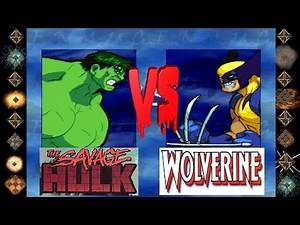 Savage Hulk ( Marvel Comics ) vs Wolverine ( Marvel Comics ) - Ultimate Mugen Fight
