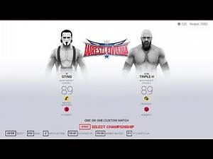 WWE 2K19 | Sting VS Triple H at WrestleMania 31