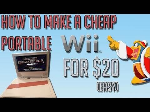 How To Make A Portable Wii Laptop [CHEAP and EASY] [Tutorial]