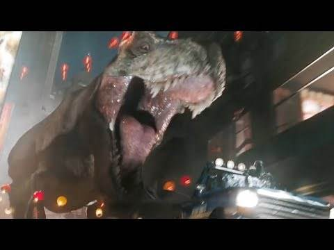 T-Rex and King Kong clip from Ready Player One