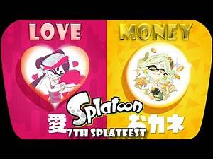 Splatoon - 7th Splatfest(Japanese): Love vs Money Battle