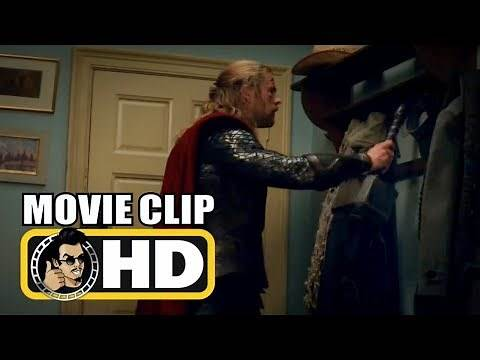 Thor: The Dark World (2013) Movie Clip - Thor Hangs His Hammer on Coat Rack |FULL HD| Marvel