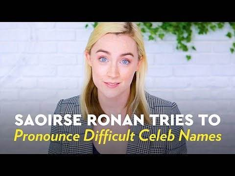 Saoirse Ronan Tries to Pronounce Difficult Celeb Names