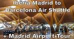 IBERIA Madrid to Barcelona Shuttle | IB1430 | MAD-BCN | Madrid Airport Terminal 4 Views