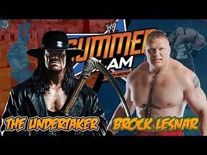 WWE 2K15 UNDERTAKER VS BROCK LESNAR MOST DANGEROUS MATCH EVER 60 FPS ( ULTRA ) 1080P FULL HD