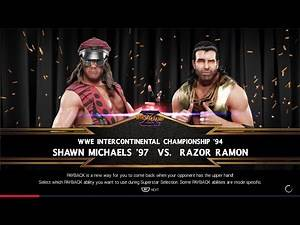 [WWE 2K19] Shawn Michaels vs. Razor Ramon (Ladder Match)