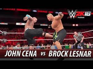 WWE 2K16 - John Cena vs Brock Lesnar (Feat. Paul Heyman and Mr. McMahon)