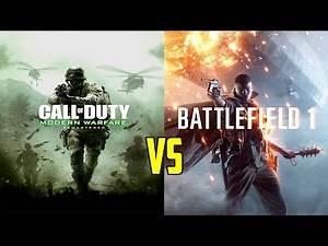 Call of Duty Modern Warfare Remastered vs Battlefield 1 #RIPCOD? (Cod4 vs Battlefield 1)