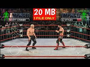 [25 MB] TNA Impact | Best High Graphics Wrestling Game | For PPSSPP Emulator On Android