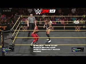 WWE 2K19 - How to Set Bianca Belairs Hairwhip & Remove 5* Match Rating (XB1)