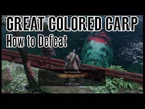 Sekiro Shadows Die Twice - How to Kill Great Colored Carp Secret Boss (Great Colored Carp Trophy)