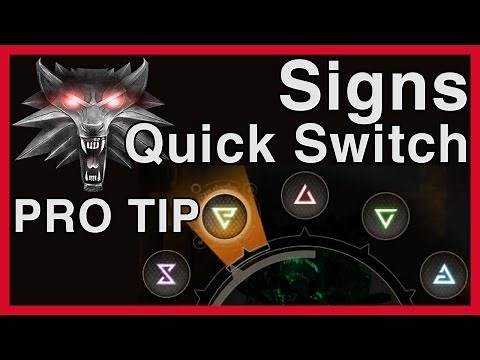 Witcher 3: Quick Switch Signs & Skills (PS4 Xbox One PRO TIP) | WikiGameGuides