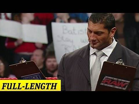 Batista decides which champion he will face off against at WrestleMania 21