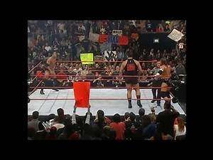 Triple H and Big Show Vs The Rock Raw 02-28-2000