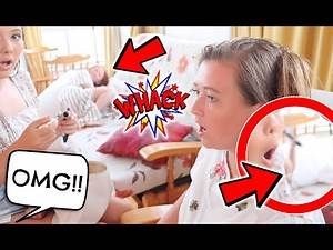 BABY BOY HITS SISTER WITH METAL POLE! CAUGHT ON CAMERA!!
