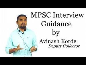 Guidance on MPSC Interview by Avinash Korde (DC).