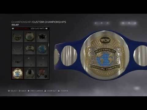 WWE 2K17: HOW TO MAKE SMACKDOWN TAG-TEAM CHAMPIONSHIPS