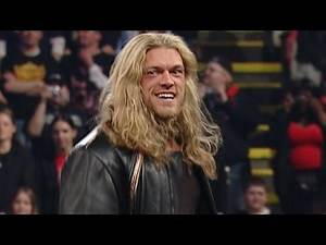 Edge returns from a long-standing injury to be drafted onto RAW in 2004