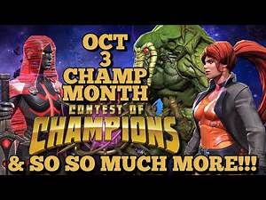 October NYCC 3 BRAND NEW CHARACTERS & 3 Other New Characters | Marvel Contest Of Champions