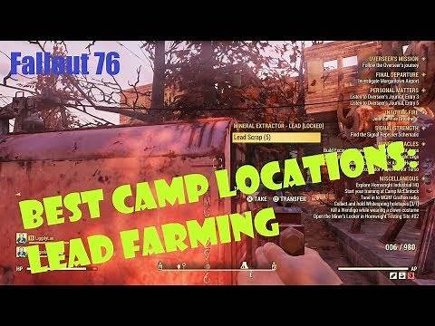 [Fallout 76] Best C.A.M.P. Locations: Lead Farming!