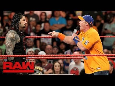 Watch the uncut war of words between John Cena and Roman Reigns: Raw, Aug. 28, 2017