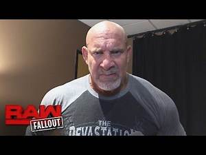 Goldberg is a man of few words after his WWE return: Raw Fallout, Oct. 17, 2016