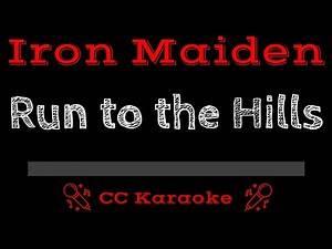 Iron Maiden • Run to the Hills (CC) [Karaoke Instrumental Lyrics]