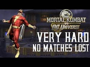 Mortal Kombat Vs DC Universe - Captain Marvel - Very Hard - No Matches Lost (Commentary)