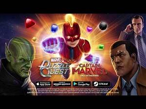 Captain Marvel - Marvel Puzzle Quest New Character