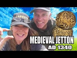 Digger Dawn & Twig the Dig - New GARRETT ACE 400i finds RARE Hammered Medieval JETTON coin (88)
